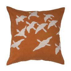 "Animal Print Pattern ORANGE Cotton Down Fill Pillow ( 20""x20"")"