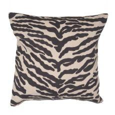 "Animal Print Pattern Dark Gray/Ivory Cotton Down Fill Pillow ( 20""X20"")"