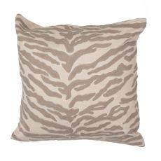 """Animal Print Pattern Ivory/White Cotton Down Fill Pillow ( 20""""X20"""")"""
