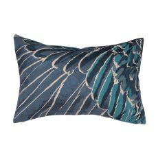 "Modern/Contemporary Pattern Blue Cotton Down Fill Pillow ( 16""X24"")"