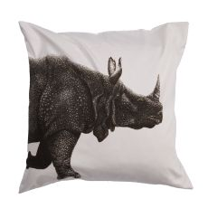 """Animal Print Pattern Ivory/Black Cotton And Polyester Down Fill Pillow ( 20""""X20"""")"""