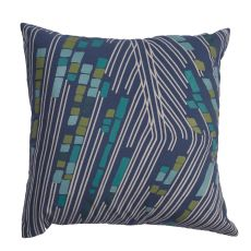 "Modern/Contemporary Pattern Blue/Gray Cotton And Polyester Down Fill Pillow ( 20""X20"")"