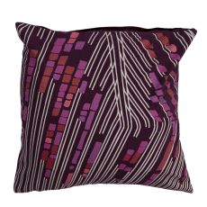"""Modern/Contemporary Pattern Purple/Multi Cotton And Polyester Down Fill Pillow ( 20""""X20"""")"""