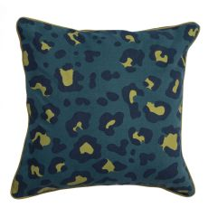 """Animal Print Pattern Blue/Green Cotton And Polyester Down Fill Pillow ( 22""""X22"""")"""