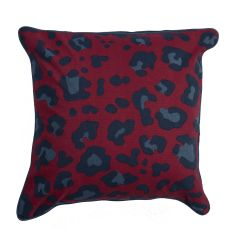 """Animal Print Pattern Red/Blue Cotton And Polyester Down Fill Pillow ( 22""""X22"""")"""