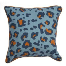 """Animal Print Pattern Blue/Orange Cotton And Polyester Down Fill Pillow ( 22""""X22"""")"""