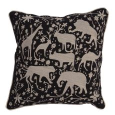 "Modern/Contemporary Pattern Black Cotton Down Fill Pillow ( 20""X20"")"