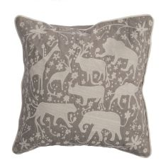 """Modern/Contemporary Pattern Gray/Ivory Cotton Down Fill Pillow ( 20""""X20"""")"""