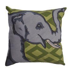 "Modern/Contemporary Pattern Green/Gray Cotton Down Fill Pillow ( 18""X18"")"