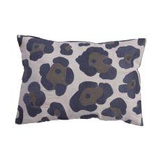 """Animal Print Pattern Gray Cotton Down Fill Pillow ( 14""""X20"""")"""