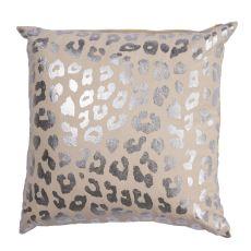 "Animal Print Pattern Ivory/Gray Cotton Down Fill Pillow ( 20""X20"")"