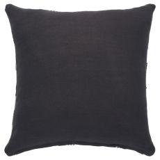 """Geometric Pattern Brown/White Cotton Down Fill Pillow ( 20""""X20"""")"""