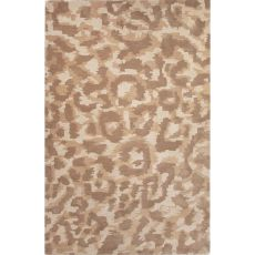 Contemporary Animal Pattern Brown Wool Area Rug (8X10)