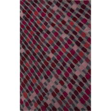 Contemporary Abstract Pattern Purple Wool Area Rug (8X10)