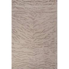 Contemporary Animal Pattern Ivory/White Wool And Viscose Area Rug (8X10)