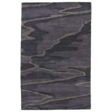 Modern Abstract Pattern Blue/Gray Wool Area Rug ( 8X10)