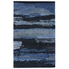 Modern Abstract Pattern Gray/Yellow Wool And Viscose Area Rug ( 8X10)