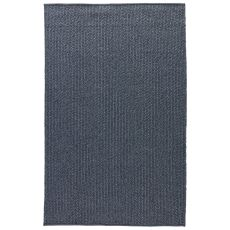 Indoor-Outdoor Solids & Heather Pattern Blue Polypropylene, Viscose And Polyster Area Rug ( 9X12)