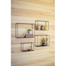 Wall Shelves - Black, Set of 4