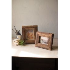 Recycled Wooden Photo Frames, Set of 2