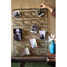 Wire Twenty Four Heart Photo Or Card Holder