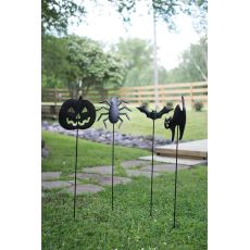 Halloween Yard Stakes - One Each Design, Set of 4