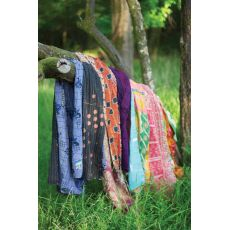 Recycled Kantha Throws-Assorted Sizes And Patterns, Set of 6
