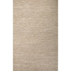 Naturals Solid Pattern Taupe/Tan Hemp Area Rug (9X12)