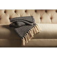 "Tribal Pattern Black/White Cotton Thow ( 50""X60"")"