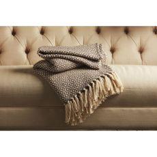 "Tribal Pattern Brown/White Cotton Thow ( 50""X60"")"