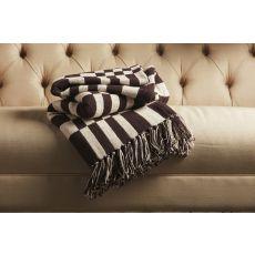 "Tribal Pattern Black/Neutral Cotton Thow ( 50""X63"")"