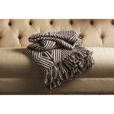 "Tribal Pattern Black/White Cotton Thow ( 50""X63"")"