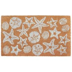 Shells White Out Door Mat