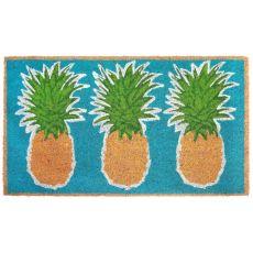 """Liora Manne Natura Pineapples Outdoor Mat Aqua 18""""X30"""""""