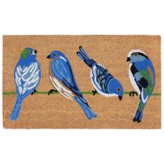 Blue Birds Natural Out Door Mat