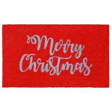 Merry Christmas Door Mat Red