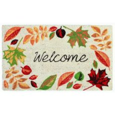 Welcome Leaves Out Door Mat