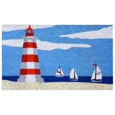 Lighthouse Blue Out Door Mat