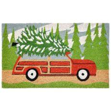"""Liora Manne Natura Tree Trip Outdoor Mat Green 18""""X30"""""""