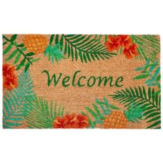 "Liora Manne Natura Tropical Welcome Outdoor Mat Natural 18""X30"""