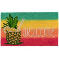 "Liora Manne Natura Welcome Pineapple Outdoor Mat Warm 18""X30"""