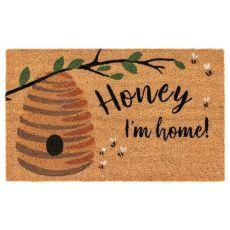 """Liora Manne Natura Honey I'M Home Outdoor Mat Natural 18""""X30"""""""