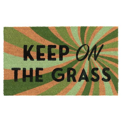 """Liora Manne Natura Keep On The Grass Outdoor Mat Natural 18""""X30"""""""