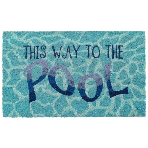 "Liora Manne Natura This Way To The Pool Outdoor Mat Water 24""X36"""