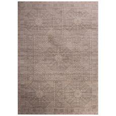 Classic Oriental Pattern Ivory/Gray Polypropylene Area Rug (9X12)