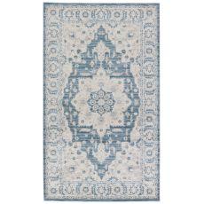 Classic Oriental Pattern Blue/Green Polypropylene Area Rug ( 7.6X9.6)