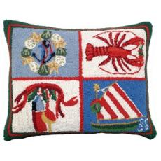 Nautical Christmas Hook Pillow