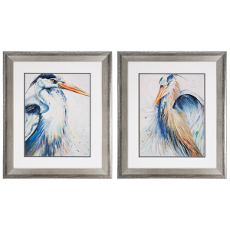 New Blue Heron Framed Art