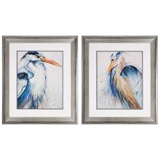New Blue Heron Framed Art