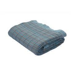"""Blue/Gray Cotton Throw (50""""x60"""")"""